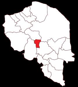 محل شهرستان رابُر در نقشهٔ استان کرمان.