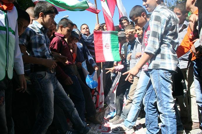 راهپیمایی شش هزار نفری مردم رابر علیه عوامل هتک حرمت به ساحت مقدس پیامبر اکرم